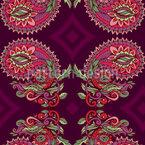 リーフ・トレンディル・ペイズリー シームレスなベクトルパターン設計