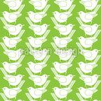 鳥と種子 シームレスなベクトルパターン設計