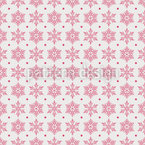 Snowflake Variation Seamless Vector Pattern