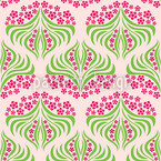 Flush Flower Seamless Vector Pattern Design