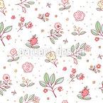 繊細なコテージの花 シームレスなベクトルパターン設計