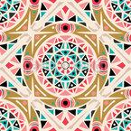 Mandala zigzag Estampado Vectorial Sin Costura