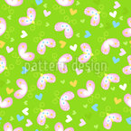 Butterflies In Love Vector Pattern