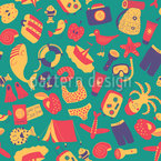 Emotional Summer Repeat Pattern