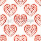 Ofen-Gebackene Herzen Nahtloses Vektormuster