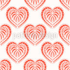 Oven-Baked Hearts Seamless Vector Pattern Design