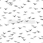 Flying Birds Seamless Vector Pattern Design