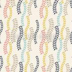Zweige Wellen Nahtloses Muster