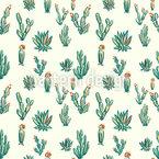 Kaktus Wüste Nahtloses Vektor Muster
