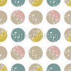 Kreise Und Halbkreise Rapportiertes Design