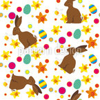 Easter Bunny Seamless Vector Pattern Design
