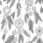 Dream Feathers Seamless Vector Pattern Design