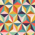 Geometrisch Und Retro Nahtloses Muster