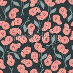 Florale Mohnblume Nahtloses Vektormuster
