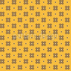 Flores pixeladas fofas Design de padrão vetorial sem costura