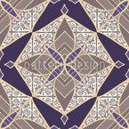 Лоскутное Звездная Мозаика Бесшовный дизайн векторных узоров