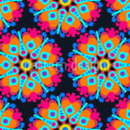 Verschwommenes Pixel Mandala Nahtloses Muster
