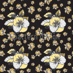 Pansy Bloom Seamless Vector Pattern Design