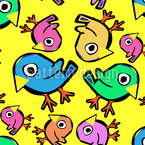 Children Birdies Vector Ornament