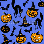 Halloween Scare Seamless Pattern