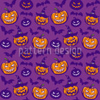 Spooky Pumpkins Vector Pattern