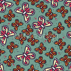 Butterflies And Bees Seamless Vector Pattern Design