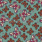 Schmetterlinge und Bienen Nahtloses Vektor Muster