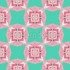 Patchwork Ornamental Estampado Vectorial Sin Costura