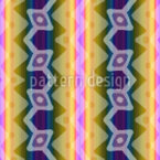 Ikat Bordures Seamless Vector Pattern Design