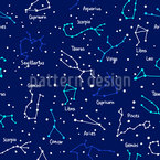 Star Constellations Seamless Vector Pattern Design