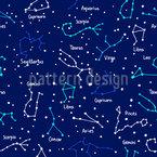 Sternen Konstellationen Nahtloses Vektor Muster