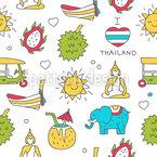 Willkommen In Thailand Vektor Muster