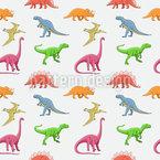 Welt Der Dinosaurier Nahtloses Vektormuster