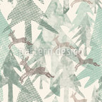 Dotted Forest Seamless Vector Pattern Design