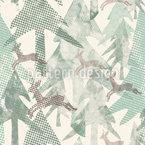 Gepunkteter Wald Nahtloses Vektormuster