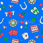 Casino Mágico Design de padrão vetorial sem costura