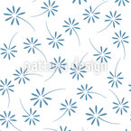 Scattered Flowers Seamless Vector Pattern Design