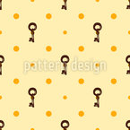 Retro Keys Seamless Vector Pattern Design