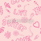 The Sweetness Of Life Repeating Pattern