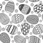 Zentangle Huevos de Pascua Estampado Vectorial Sin Costura