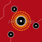 Aborigine Gathering Repeat Pattern