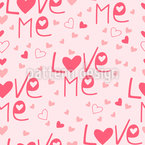 Love Me Seamless Vector Pattern Design
