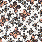 Bees And Butterflies Seamless Vector Pattern