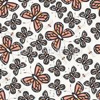 Bienen und Schmetterlinge Nahtloses Vektor Muster