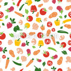Fresh Vegetables Seamless Vector Pattern Design