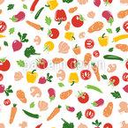 Frisches Gemüse Muster Design