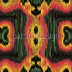 Florales Zick-Zack Nahtloses Vektor Muster