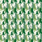 Floresta Alpina Design de padrão vetorial sem costura