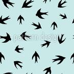Schwalben Silhouetten Nahtloses Vektor Muster