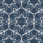 Symmetrical floral Ornaments Seamless Vector Pattern Design